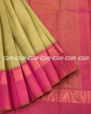 Handloom Pure Kanjivaram Silk Saree in Chickoo Shade