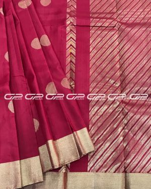Light weight Silk Saree in blood red shade