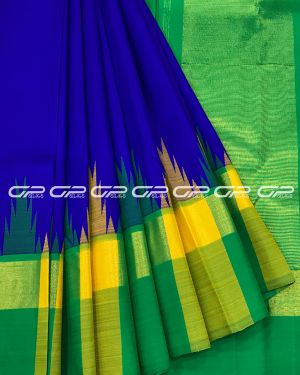 Handloom Pure Kanjivaram Silk Saree in Royal Blue Shade