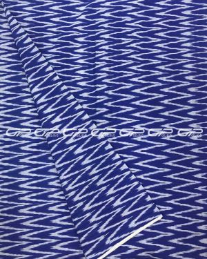 Pure Ikat Cotton Material in Dark blue shade