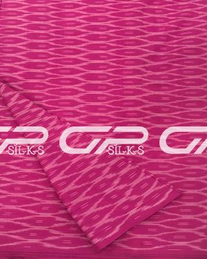 Pure Ikat Cotton Material in Pink shade