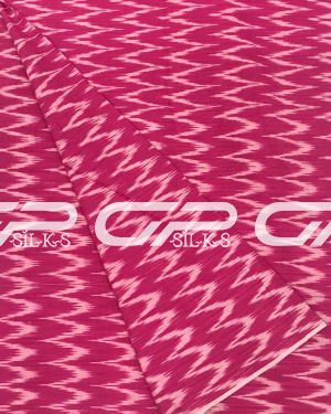 Pure Ikat Cotton Material in Lotus pink shade