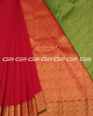 Handloom pure silk cotton sarees in Red shade.