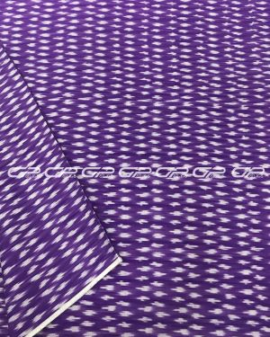 Pure ikat  material in violet shade