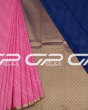 Handloom pure silk cotton sarees in Light pink shade.