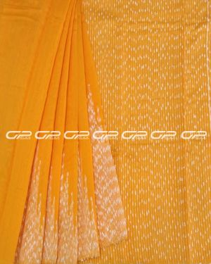 Handloom pure cotton sarees in Mango yelow shade.