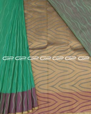 Handloom pure silk cotton sarees in turquoise blue shade