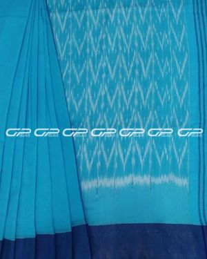 Handloom pure cotton sarees in Sky blue shade.